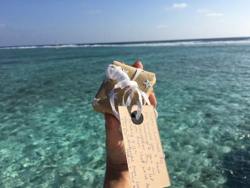Christmas presents in the Maldives