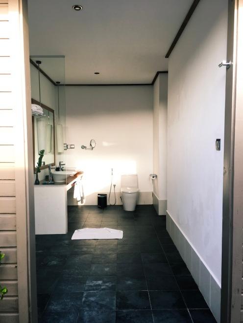 The open bathroom