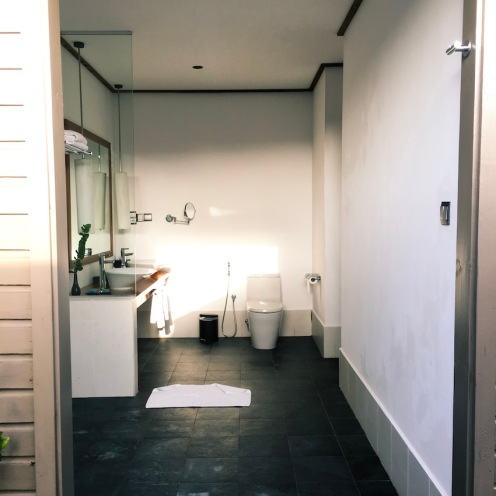 The open bathroom